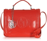Armani Jeans Red Patent Eco Leather Shoulder bag