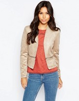 Vero Moda Suedette Jacket With Zip Detail