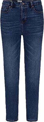Tribal Women's Misses HIGH-Rise Slim Jean-MEDCREEK 16