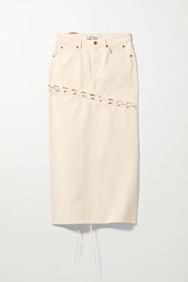 Weekday Woody Off-white Skirt - White