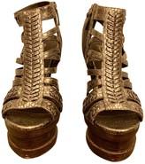 Elizabeth and James Silver Leather Sandals