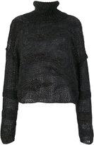 Isabel Benenato roll-neck sheer sweater