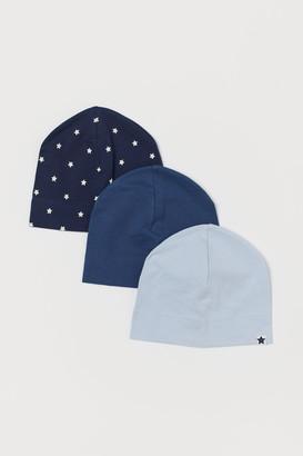 H&M 3-Pack Cotton Jersey Hats