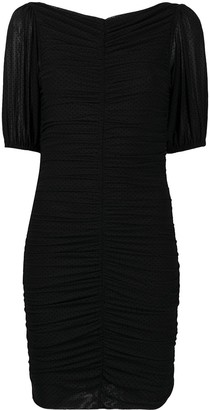Ganni Ruched-Detailed Fitted Dress