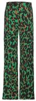Versace Printed Crêpe Wide-leg Trousers