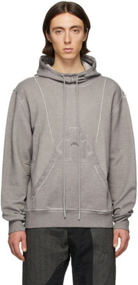 Diesel Red Tag Grey A-Cold-Wall* Edition Garment-Dyed Hoodie