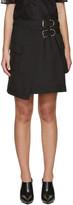 Carven Black Asymmetric Pocket Miniskirt