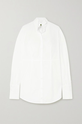 GAUGE81 Santorini Cotton-poplin Mini Shirt Dress - White