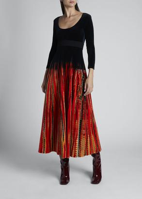 Proenza Schouler Tie-Dyed Velvet Jersey Dress