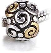 Bling Jewelry 925 Sterling Silver Gold Plated Tribal Swirl Charm Bead Fits Pandora