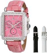 Sartego Women's SDPK199P Diamond Fashion Square Shape Chronograph