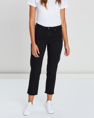 Outland Denim Abigail Raw Crop Jeans