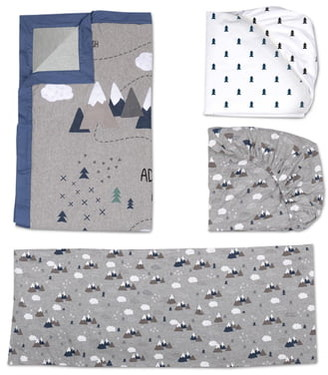 Living Textiles Peaks 4-Piece Crib Bedding Set