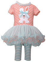 Bonnie Jean Bonnie Baby Baby Girls Newborn-24 Months Easter Bunny Dotted Dress & Striped Leggings Set