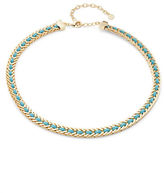 RJ Graziano Leather Woven Collar Necklace