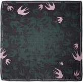 McQ by Alexander McQueen Green Swallow Swarm Scarf