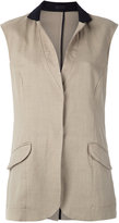 OSKLEN panelled waistcoat - women - Cotton/Linen/Flax/Viscose - 40