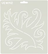Sten Source UE-142 Quilt Stencils by Patricia Ritter, 7-Inch Fancy Leaf