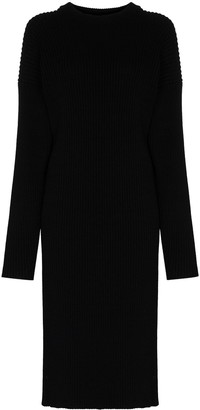 Bottega Veneta Cut-Out Knee-Length Sweater Dress