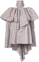 Rosie Assoulin checkered ruffled blouse