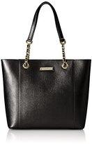 Calvin Klein Saffiano Leather with Chain Strap Travel Tote
