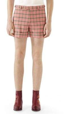 Gucci Wool Check Shorts