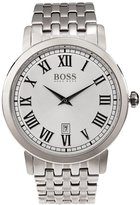 HUGO BOSS Men's 42mm Steel Bracelet Quartz -Tone Dial Analog Watch 1513143
