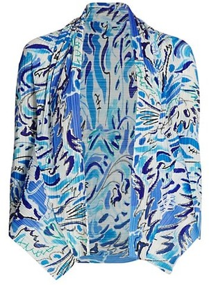 Pleats Please Issey Miyake Playing Print Cardigan