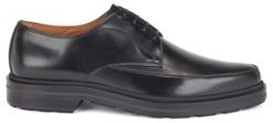 HUGO BOSS Italian Made Derby Shoes In Smooth Leather - Black