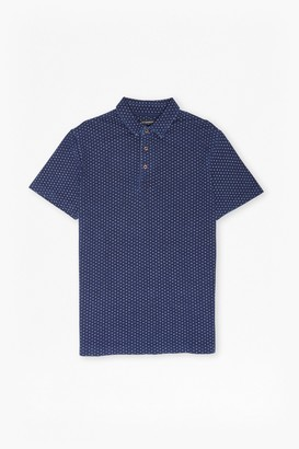 French Connection Dojo Dot Printed Short Sleeved Top