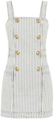 Balmain Striped denim dress