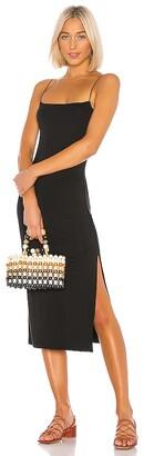 Enza Costa Strappy Side Slit Dress