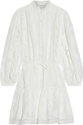 Joie Adel B Ruffled Fil Coupe Georgette Mini Dress
