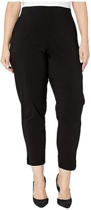 Hue Plus Size Temp Tech Trouser Leggings (Black) Women's Casual Pants