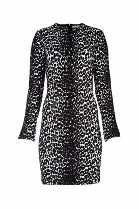 Givenchy Animal Print Fitted Mini Dress