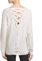 Aqua Cashmere Lace Up Back Sweater - 100% Exclusive