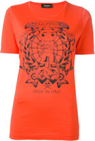 DSQUARED2 long tattoo graphic T-shirt - women - Cotton - XS