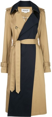 Monse Panelled Trench Coat