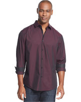 Alfani Men's Solid Long-Sleeve Iridescent Shirt