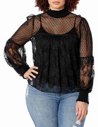 Forever 21 Women's Plus Size Sheer Lace Top
