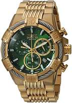 Invicta Men's 'Bolt' Quartz Stainless Steel Casual Watch, Color:Gold-Toned (Model: 25869)