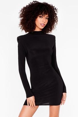 Nasty Gal Womens I Did Something Shoulder Pad Mini Dress - Black