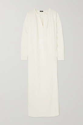 Bassike Space For Giants Linen And Jersey Maxi Dress - White