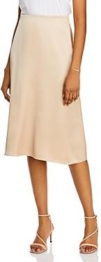 Aqua Satin Midi Slip Skirt - 100% Exclusive