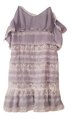 NBD Purple Cotton Dress for Women