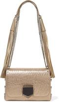 Jimmy Choo Lockett Petite Metallic Textured-leather Shoulder Bag - one size