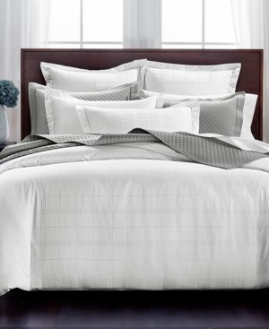 Charter Club Damask Windowpane 3-Pc. Full/Queen Duvet Set, 550-Thread Count Supima Cotton, Created for Macy's Bedding