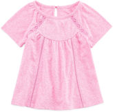 Arizona Short-Sleeve Lace Inset Top - Baby Girls 3m-24m
