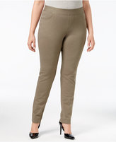 INC International Concepts Plus Size Tummy-Control Ponte Skinny Pants, Only at Macy's
