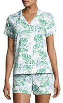 BedHead Palm Leaf-Print Short Pajama Set, Multi Pattern